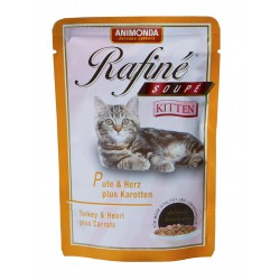 پوچ رافینه حاوی گوشت بوقلمون - دل و هویج مخصوص بچه گربه