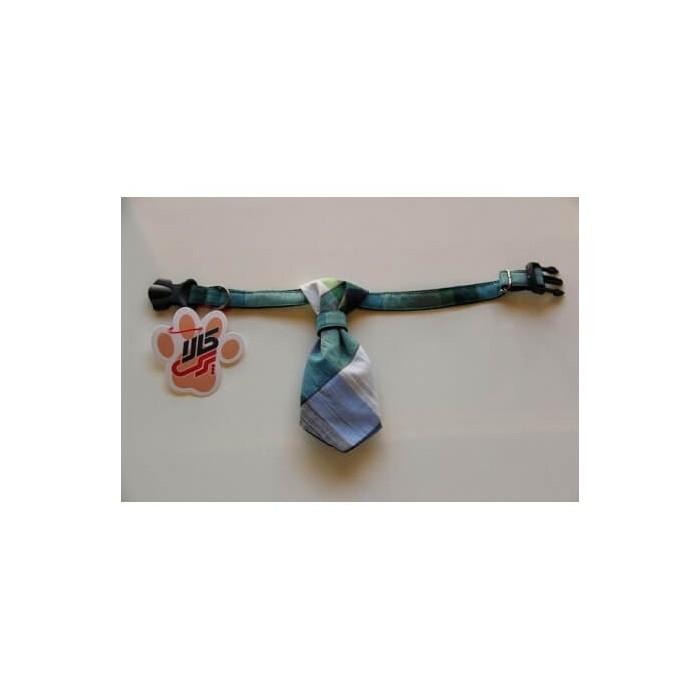 کراوات چهارخانه سبز آبی پرس کالا