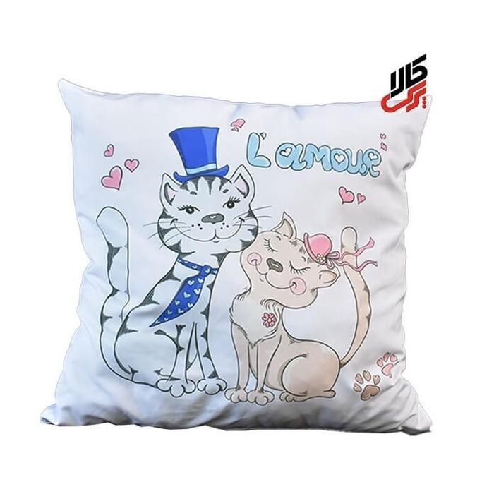 کوسن فانتزی طرح گربه های عاشق پرس کالا