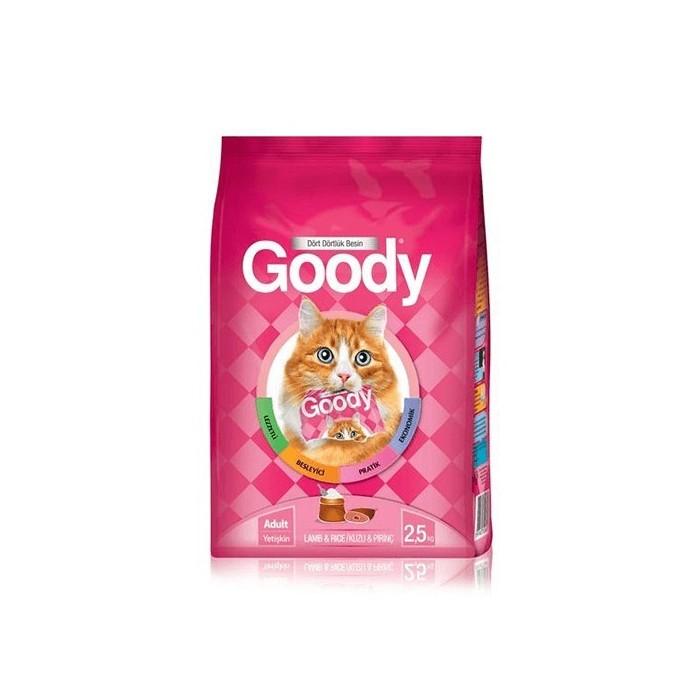 غذای خشک مخصوص گربه بالغ با طعم بره و برنج گودی