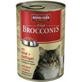 کنسرو گوشت گاو و پرندگان مخصوص گربه بالغ بروکنیز