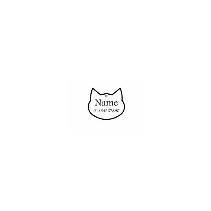 تگ شناسایی حیوانات - مدل سر گربه