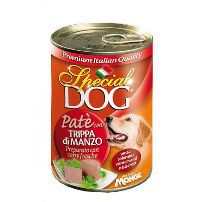 کنسرو با طعم سیرابی و بیف مخصوص سگ اسپشل