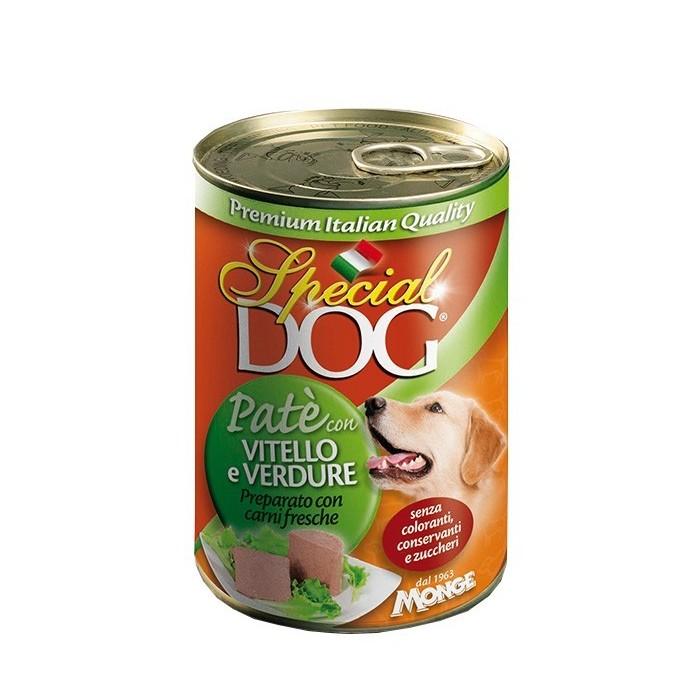 کنسرو با طعم گوشت گوساله و سبزیجات مخصوص سگ اسپشل
