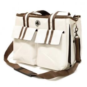 کیف حمل سگ و گربه مدل Isabella/ کرم - قهوه ای
