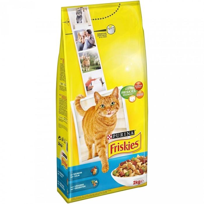 غذای خشک گربه بالغ با طعم ماهی سالمون و سبزیجات فریسکیز