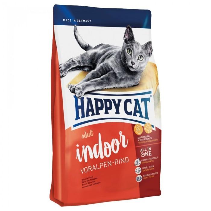 غذای خشک مخصوص گربه بالغ  داخل خانه با گوشت گاو ارگانیک (دانه بندی درشت) هپی کت