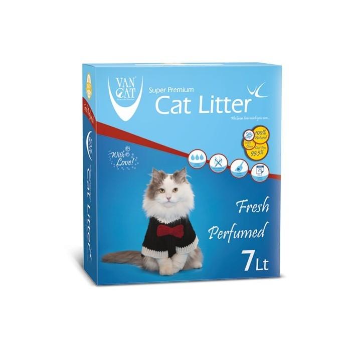 خاك گربه ون كت اولتراكلامپينگ با رايحه طبيعت حاوي مواد آنتي باكتريال - کارتن 7 لیتری