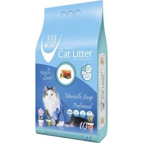 خاک گربه اولتراکلامپینگ با رایحه صابون فرانسوی حاوی مواد آنتی باکتریال ون کت