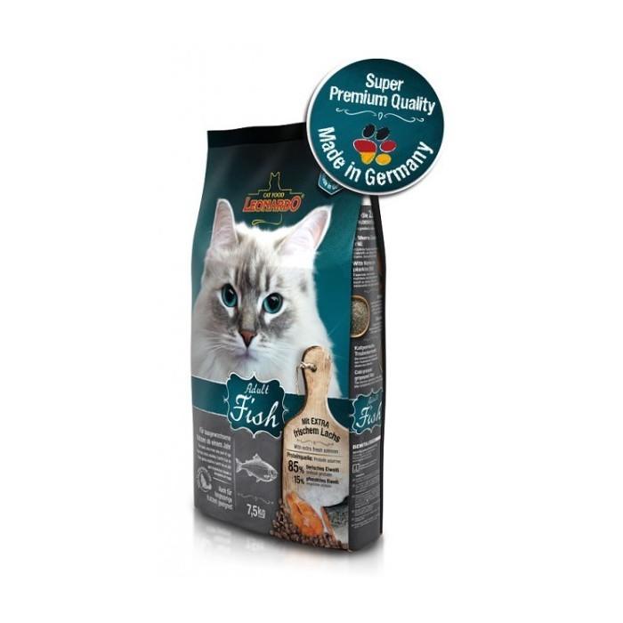 غذای خشک مخصوص گربه حساس و بدغذا با طعم ماهی و برنج لئوناردو