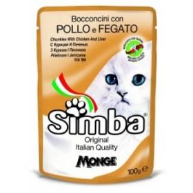 پوچ گربه با طعم مرغ و جگر سیمبا