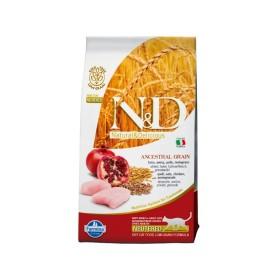 غذای خشک مخصوص گربه عقیم حاوی گوشت مرغ و انار N&D