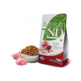 غذای خشک مخصوص گربه بالغ حاوی گوشت مرغ و انار N&D