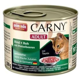 کنسرو کارنی حاوی گوشت گاو - گوشت گوزن و میوه کوبری مخصوص گربه بالغ