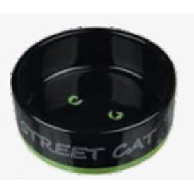 ظرف غذای سرامیکی گربه تریکسی طرح گربه خیابانی