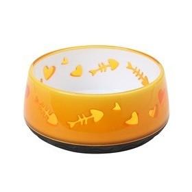 ظرف آب و غذای گربه طرح استخوان زرد هاگن