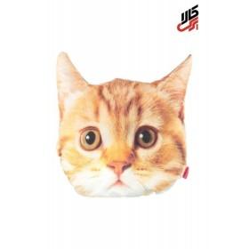 کوسن فانتزی طرح گربه قهوه ای پرس کالا
