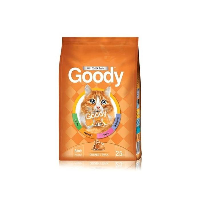غذای خشک مخصوص گربه بالغ با طعم مرغ گودی