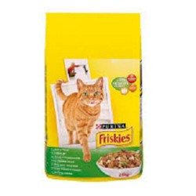 غذا خشک گربه بالغ با طعم گوشت مرغ و سبزیجات فریسکیز