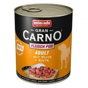 کنسرو گوشت اردک و بوقلمون مخصوص سگ بالغ گرن کارنو