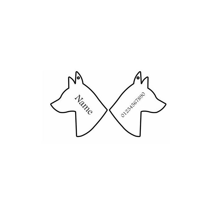 تگ شناسایی حیوانات - مدل سر سگ