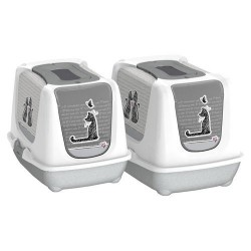 دستشویی گربه طرح عشق کارلی فلامینگو