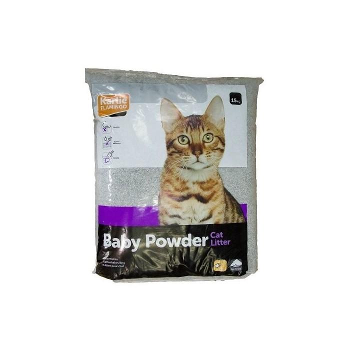 خاک گربه با پودر بچه کارلی فلامینگو