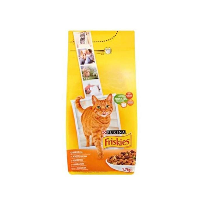 غذا خشک گربه بالغ فریسکیز باطعم مرغ و اردک و بوقلمون
