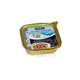 خوراک کاسه ای مخصوص گربه حاوی شاه میگو و ماهی کاد دکتر کلودرز