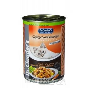 کنسرو دکتر کلودرز مخصوص گربه حاوی گوشت مرغ و هویج