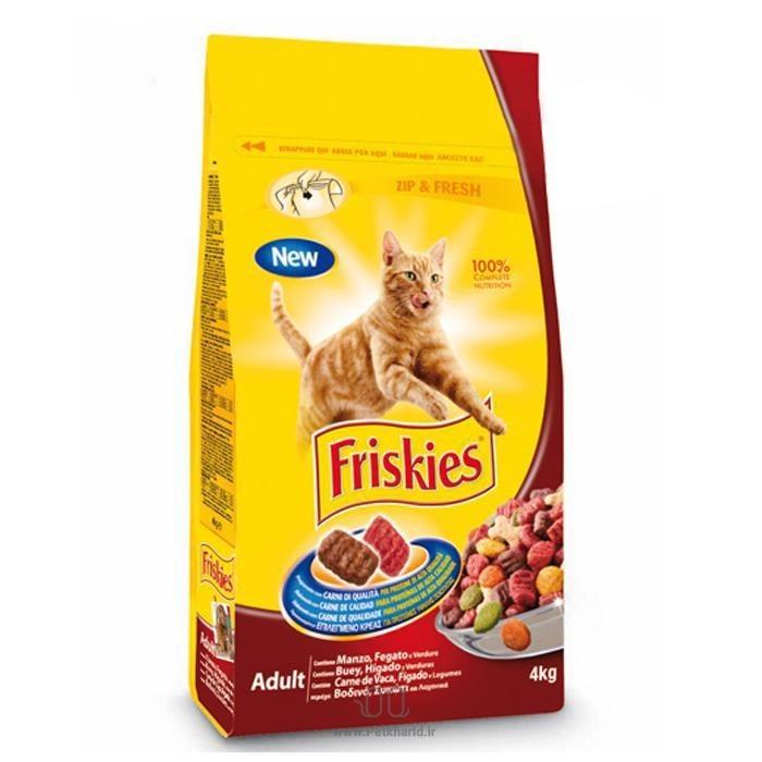 غذای خشک گربه بالغ با طعم گوشت و مرغ و سبزیجات فریسکیز