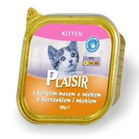 خوراک فشرده (ووم) بچه گربه با طعم مرغ و شیر پلازیر
