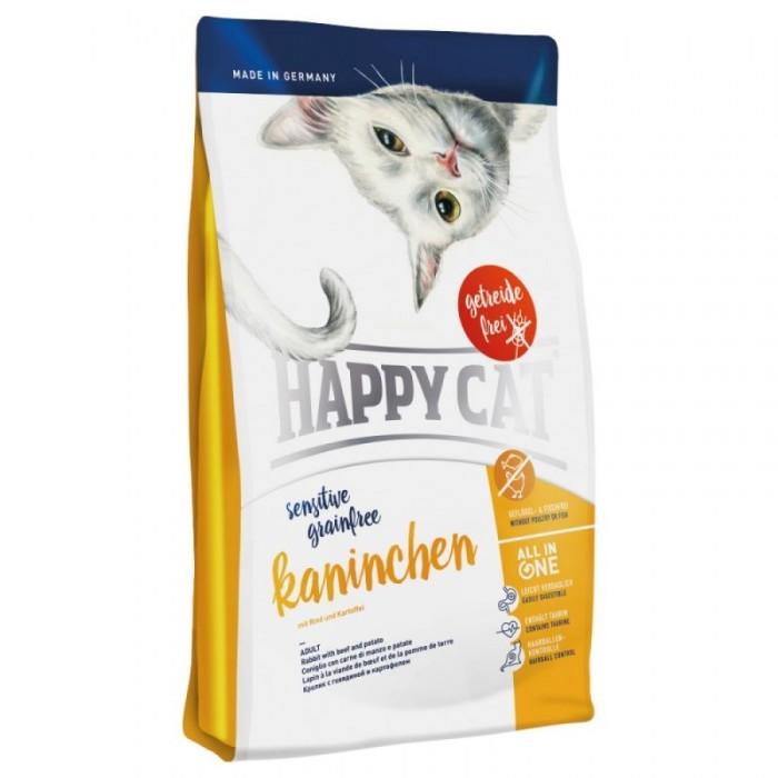 غذای خشک بدون غلات گربه با گوشت ارگانیک خرگوش هپی کت