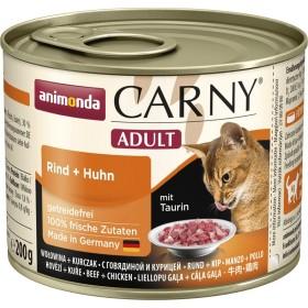 کنسرو پته حاوی گوشت گاو و مرغ مخصوص گربه بالغ کارنی