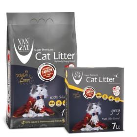 خاك گربه اولتراكلامپينگ فرآوري شده حاوي كربن فعال و مواد آنتي باكتريال و قدرت فوق العاده كنترل بوي نامطبوع ون کت