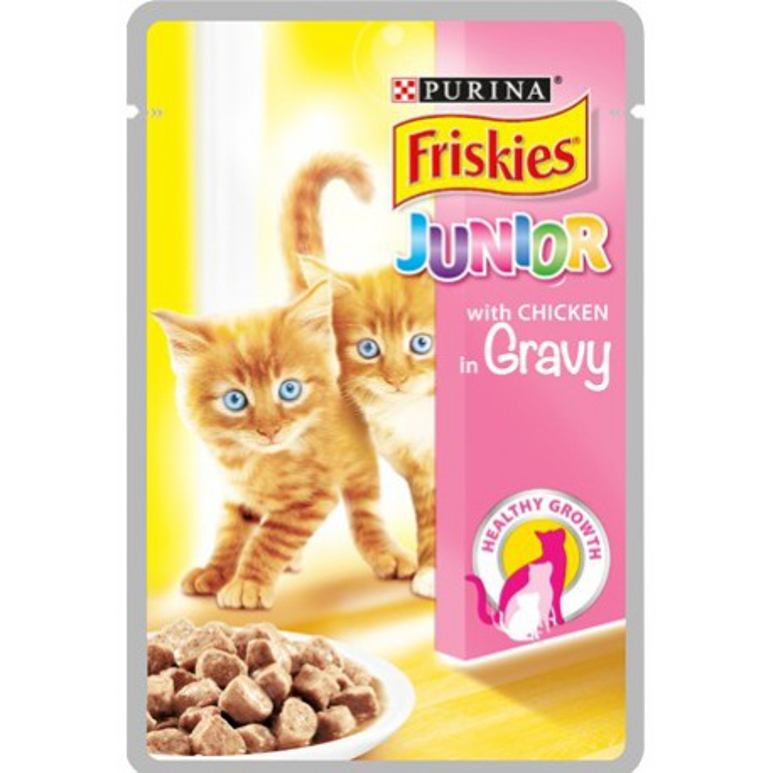 پوچ بچه گربه با طعم مرغ فریسکیز