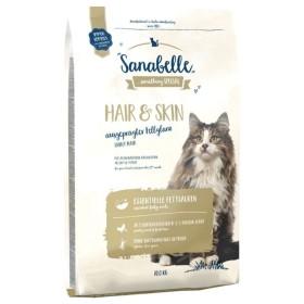 غذاي خشك مخصوص گربه بالغ براي ايجاد پوست و مو ايده آل سانابل