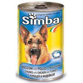 کنسرو چانک با طعم مرغ و بوقلمون مخصوص سگ سیمبا