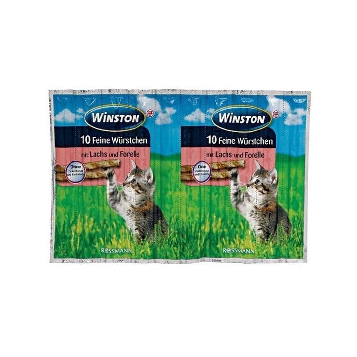 تشویقی مدادی گربه طعم ماهی آزاد وینستون (10 عددی)