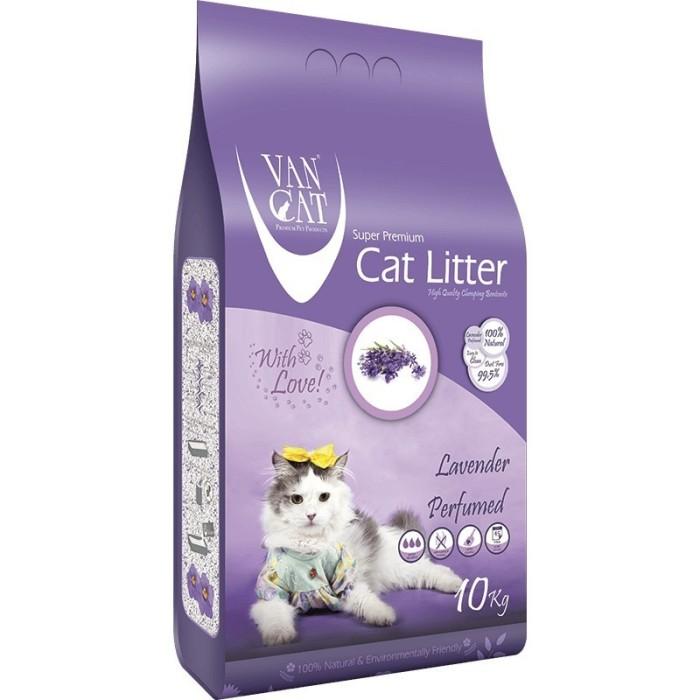 خاک گربه اولتراکلامپینگ با رایحه لاوندر حاوی مواد آنتی باکتریال ون کت 10 کیلویی