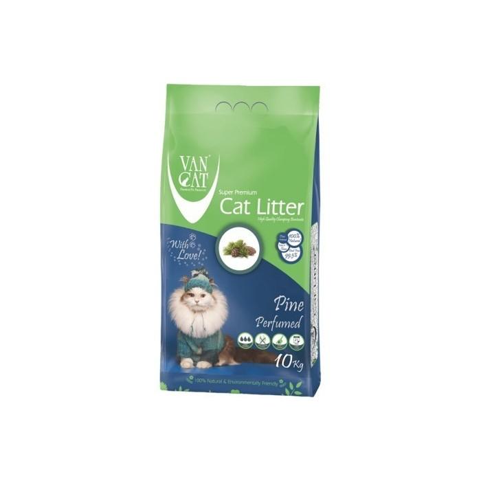 خاک گربه اولتراکلامپینگ با رایحه کاج جنگلی حاوی مواد آنتی باکتریال ون کت 10 کیلویی