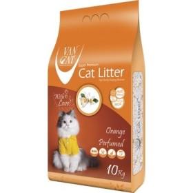 خاک گربه اولترا کلامپینگ با رایحه پرتقال حاوی مواد آنتی باکتریال ون کت 10 کیلویی