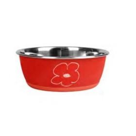 ظرف استیل قابل نوشتن با گچ سایز کوچک در رنگ قرمز کارلی فلامینگو