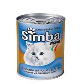 کنسرو چانک با طعم مرغ و بوقلمون سیمبا - 720 گرم