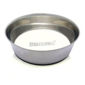 ظرف آب و غذا استیل سنگین سگ با کف تمام استاپ