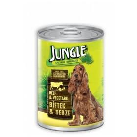 کنسرو گوشت گوساله و سبزیجات مخصوص سگ بالغ جانگل