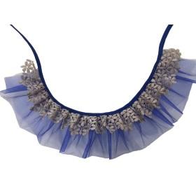 دستمال گردن تورتوری آبی پرس پت