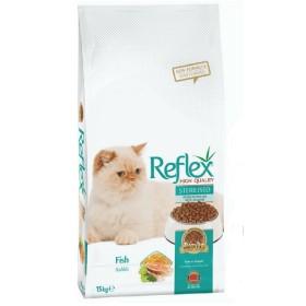 غذای خشک گربه بالغ عقیم شده رفلکس - 15 کیلوگرم