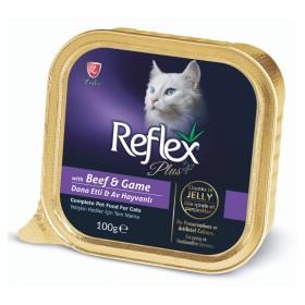 خوراک چانک گربه با طعم بیف و گوشت شکار رفلکس  - 100گرم