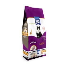 غذا خشک گربه بالغ با طعم مرغ  پاو پاو  - 1.5 كيلوگرم